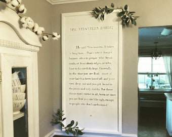 The Velveteen Rabbit large wood sign