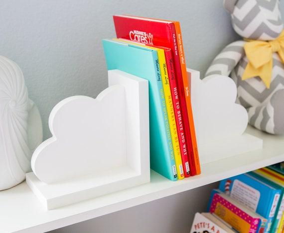 serre livres nuage pour enfants chambre b b chambre de b b. Black Bedroom Furniture Sets. Home Design Ideas