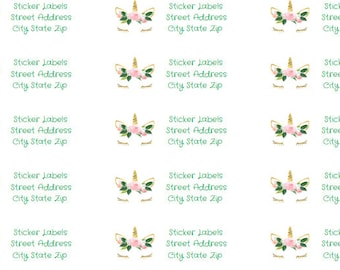 Personalized address labels (sheet of 30)