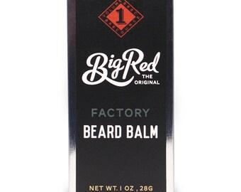 1 oz. Big Red Factory Beard Balm tin