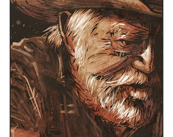 "The Straight Story - (Alvin Straight, Richard Farnsworth, David Lynch) colour art print 10""x8"""