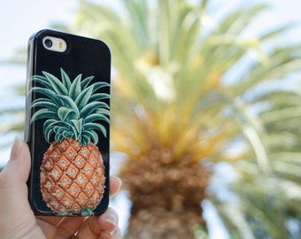 Pineapple iPhone 7 Case, Tropical iPhone 6S Plus Case Botanical iPhone 5S Plus Case Pineapple Samsung Galaxy
