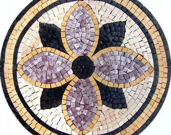Mosaic Medallion - Purple Con