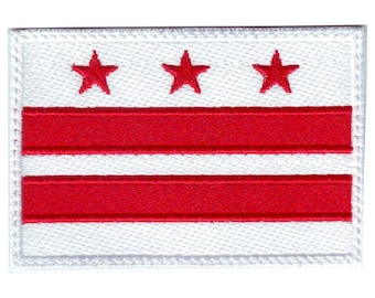 Washington D.C. Flag Embroidered Patch