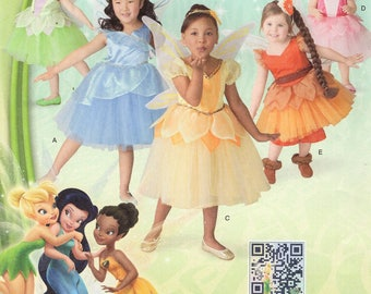FREE Us SHIP Sewing Pattern Simplicity 1792 Girls Halloween Costume FAIRIES dress Size 1/2-8 Uncut Size 6mo 1 2 3 4 5 6 7 8