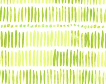 Tall Green Grass Stripes and Dots by Michael Miller - SC7097-MOSS-D