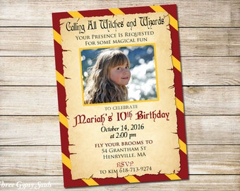 Wizard Party Invitation Witches And Wizards Invitation Magical Birthday Invitations Wizard House Party