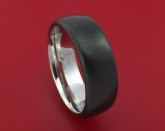 Titanium Golf Ball Ring Textured Dimple Pattern Band Made To