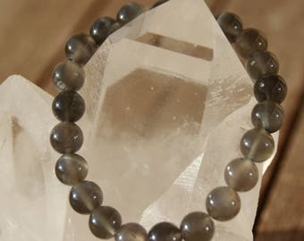 Bracelet with black Moonstone beads