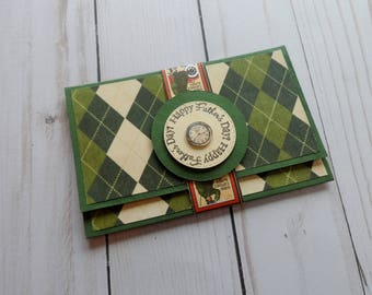 Father's Day Gift Card or Money Holder -- Father's Day Gift Card Holder --  Father's Day Money Holder