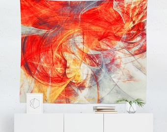 Red Tapestry | Red Wall Tapestry | Red Wall Decor | Red Wall Art | Red Art | Abstract Wall Tapestry | Abstract Wall Decor