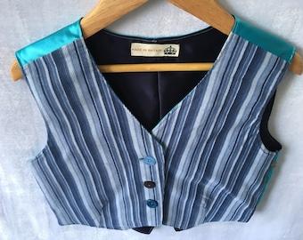 Blue Stripy Boys Waistcoat