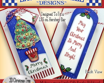 Christmas Tree Candy Bar Wrapper, Laurie Furnell, Christmas Candy Bar Wrappers, Papercrafts, Paper Crafts, Holiday Printables,  Wrappers