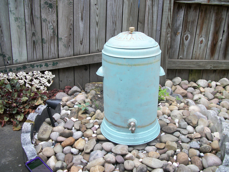 Antique Water Cooler Jug Spigot Vintage Bar Decor Primitive