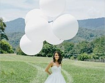 36 Inch Giant Balloons, WHITE, Wedding, Graduation, Birthday, Baby Shower, Bridal Shower, Engagement, Photo prop