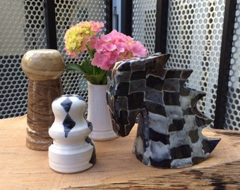 Chess inspired ceramic pieces