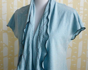 Starling Cardigan, choose your size and color in NEW hand printed eco-friendly jersey, American grown and sewn