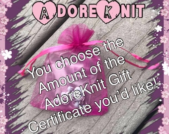 Gift Certificate, you choose the amount