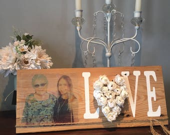 custom photograph wooden sign decor