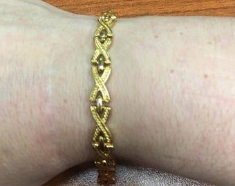 Napier XO Gold Tone Bracelet