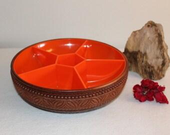 Original Vintage Emsa 1965er Jahre Made in West Germany Mid Century Serving Bowl orange