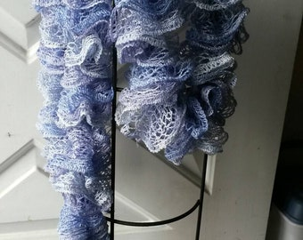 Hand Knitted Boa Scarf