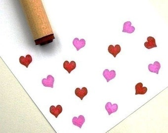 Solid Heart  Rubber Stamp