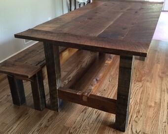 Merveilleux Reclaimed Wood Farm Table