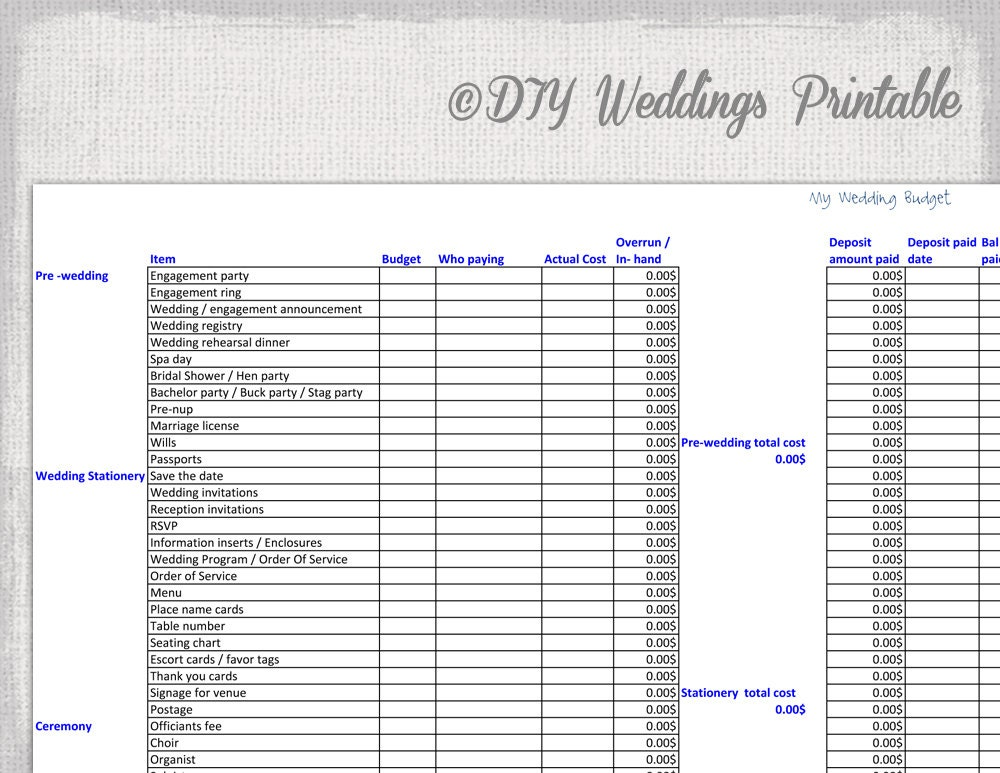 wedding expenses spreadsheet template opucuk kiessling co