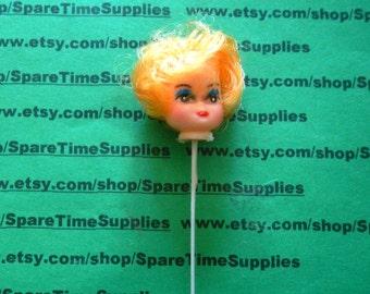 "Curly Hair Doll Head - 1"" - blonde - 1 pc - Darice - #12147-2"