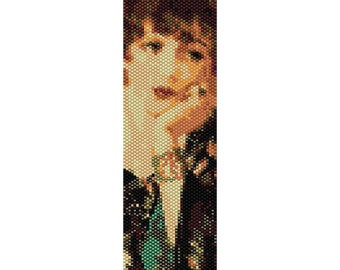 Vintage Lady 1 Peyote Bead Pattern, Bracelet Cuff, Bookmark, Seed Beading Pattern Miyuki Delica Size 11 Beads - PDF Instant Download