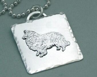 Sheltie Necklace - Sterling Silver