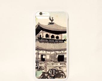 iPhone7/6scase 【Ginkakuji design】 /blossom/iPhone7 case/iPhone6 case/caseiPhone7 /Silver/case cover/pond/masterpiece  -free shipping-