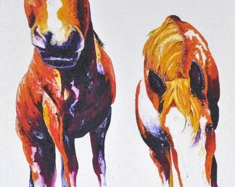 Horse Portrait | Pet Art by Aidan Weichard | Original Painting on Canvas | Abstract Animal Art | Horse Painting | Farm Animal | Pet Portrait
