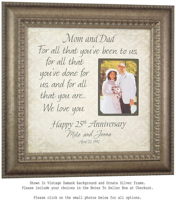 Gifts For 25th Wedding Anniversary For Parents