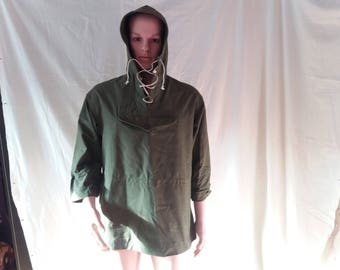 Vintage 1980's Military Green Canvas Anorak - NEW