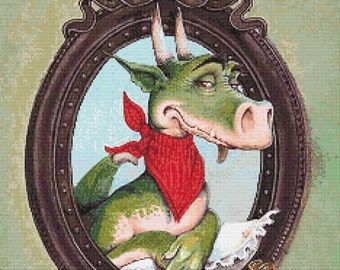 Brutus - emailed PDF cross-stitch chart / pattern, original art © Poul Dohle  licenced by Paine Free Crafts