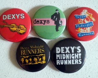 """5 x Dexy's Midnight Runners 1"""" Pin Button Badges ( music dexys )"""