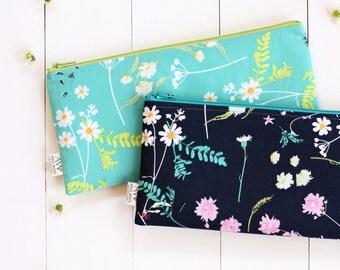 Zipper Pouch, Pencil Pouch, Floral, Pencil Case, Make Up Bag, Zipper Bag, Floral Fashion, College, School Supplies, Teens, Women, Organize