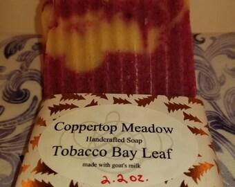 Tobacco Bay Leaf goats milk soap