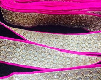 Decorative Fabric Trim, Trim Craft Supply Beaded- 1.25 Inches Wide