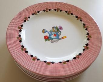Set of Five Mary Engelbreit Salad Dessert Plates