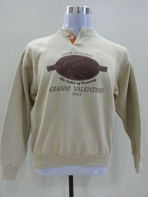 Vintage Gianni Valentino Italy Big Logo Embroidery Spell Out Unisex Adult (C1)
