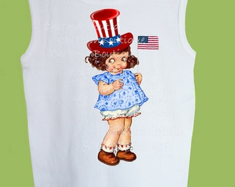 Fourth of July Girl,Independence day, Patriotic shirt, original design, American Flag, Personalized free, ORIGINAL from ChiTownBoutique.etsy