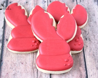 Nautical Crab Claw Cookies, Nautical Cookies, Seafood Cookie, Beach Cookies, Ocean, Summer Cookies