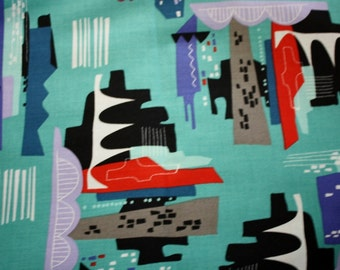 Quilter's Fabric - City Scenes Print - Quilting - 100% Cotton - by Jane Dixon - Andover Fabrics - Sold by the Piece - 1 3/4 Yard piece