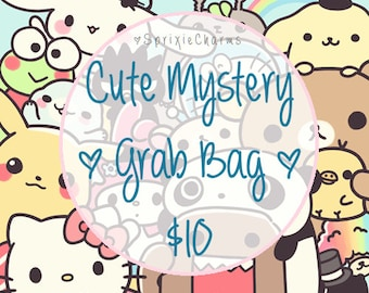 Cute Kawaii Mystery Grab Bag / Bag Filled with Cuteness and Kawaiiness / Stationery Grab Bag / Stationary Grab Bag / Kawaii Stationery Bag