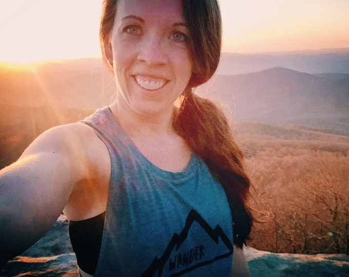 Mountain Wanderer Tank- Women's Clothing- Clothing for Women- Women's Tank- Hiking Tank- Hiking Shirt- WANDER Tank- Mountain Tank