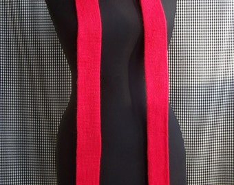 red long skinny warm soft wool scarf perfect winter gift