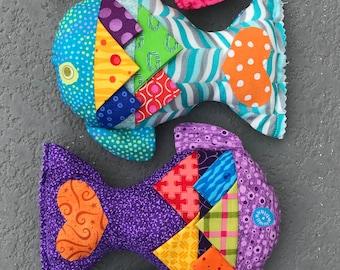 Stuffed Fish Toy, Baby Stuffed Fish Toy, Baby Fish Sensory Toy, Sensory Fish Toy for Baby, Baby Shower Gift, Fabric Fish Stuffed Toy, Fishy